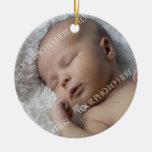 Ornamento del navidad del bebé de la foto 1r ornamento de reyes magos