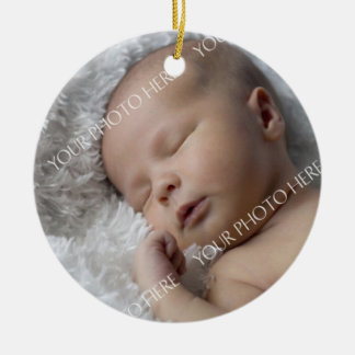 Ornamento del navidad del bebé de la foto 1r adornos de navidad