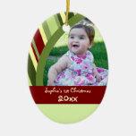 Ornamento del navidad del bebé de la foto de las r ornamentos de reyes