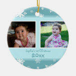 Ornamento del navidad del bebé de la foto del trul adornos de navidad