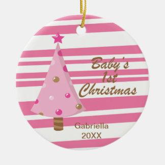 Ornamento del navidad del bebé de PinkTree 1r Ornamentos De Reyes Magos