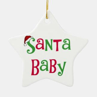 Ornamento del navidad del bebé de Santa Adorno De Cerámica En Forma De Estrella