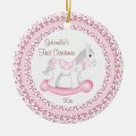 Ornamento del navidad del bebé del chica del cabal adorno de navidad