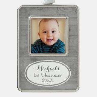 Ornamento del navidad del bebé rústico del efecto adornos navideños