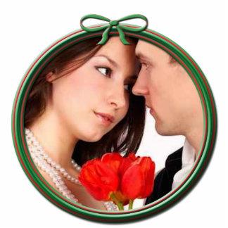Ornamento del navidad del boda adorno fotoescultura