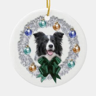Ornamento del navidad del border collie ornamentos para reyes magos
