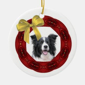 Ornamento del navidad del border collie ornamento de navidad