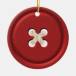 Ornamento del navidad del botón rojo adorno