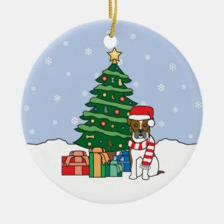 Ornamento del navidad del boxeador ornamentos de navidad