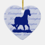 Ornamento del navidad del caballo de Lexington KY Ornato