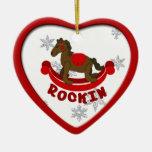 Ornamento del navidad del caballo mecedora ornamento de reyes magos
