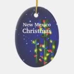 Ornamento del navidad del cactus del Saguaro de Adorno Navideño Ovalado De Cerámica