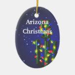 Ornamento del navidad del cactus del Saguaro de Ornato