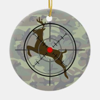Ornamento del navidad del camuflaje de la caza de adorno para reyes