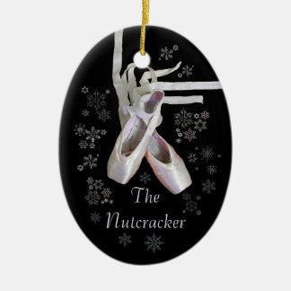 """Ornamento del navidad """"del cascanueces"""" adorno navideño ovalado de cerámica"""
