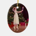 Ornamento del navidad del cascanueces adorno navideño ovalado de cerámica