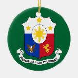 Ornamento del navidad del COA de Filipinas Ornatos
