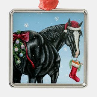 Ornamento del navidad del condado adorno navideño cuadrado de metal