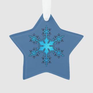 Ornamento del navidad del copo de nieve de la