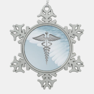 ornamento del navidad del copo de nieve de la adorno de peltre en forma de copo de nieve