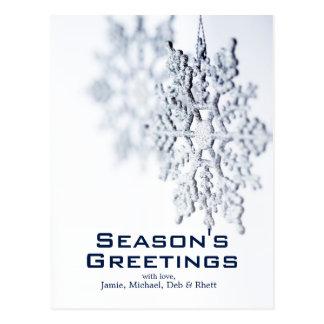 ornamento del navidad del copo de nieve en el postales