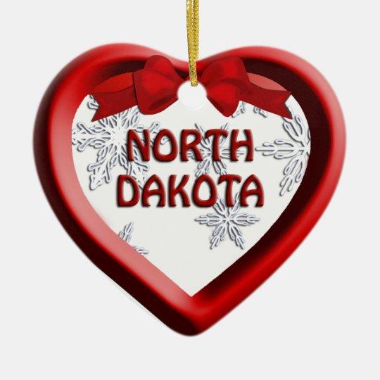 Ornamento del navidad del corazón del copo de adorno navideño de cerámica en forma de corazón