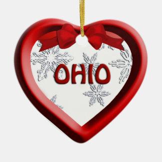Ornamento del navidad del corazón del copo de ornamento para reyes magos