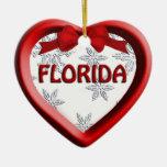 Ornamento del navidad del corazón del copo de niev adornos de navidad
