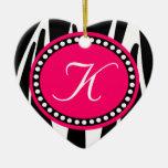 Ornamento del navidad del corazón del estampado de ornamento de reyes magos