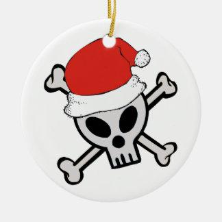 Ornamento del navidad del cráneo de Santa del navi Adorno