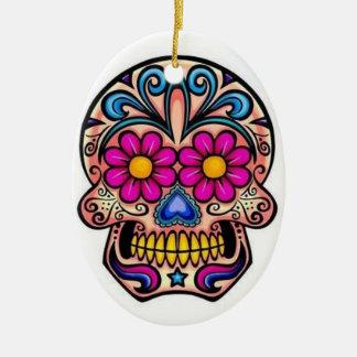 Ornamento del navidad del cráneo del azúcar ornamento para arbol de navidad