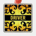 Ornamento del navidad del damasco del conductor adorno