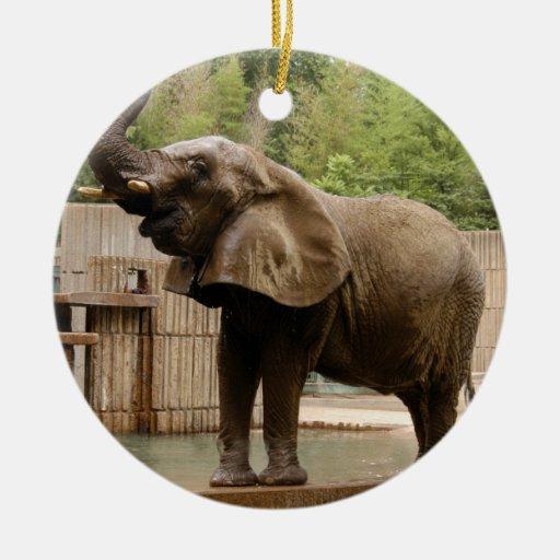 Ornamento del navidad del elefante africano ornamento de reyes magos