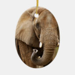 Ornamento del navidad del elefante africano ornamentos de reyes