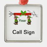 Ornamento del navidad del equipo de radio-aficiona adornos