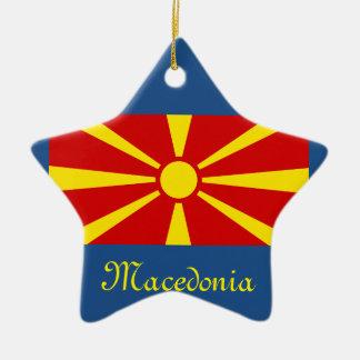 Ornamento del navidad del escudo de Macedonia* Adorno