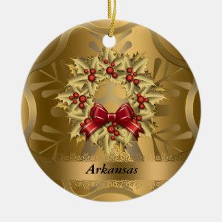 Ornamento del navidad del estado de Arkansas Ornamento De Reyes Magos