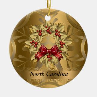 Ornamento del navidad del estado de Carolina del N Adorno De Reyes
