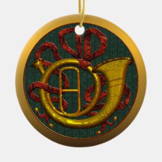 Ornamento del navidad del estado de Georgia de la Adorno Navideño Redondo De Cerámica