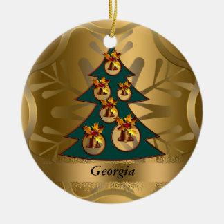 Ornamento del navidad del estado de Georgia Ornamentos De Navidad