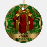 Ornamento del navidad del estado de la Florida Ornamento De Navidad