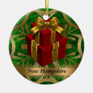 Ornamento del navidad del estado de New Hampshire Adornos De Navidad