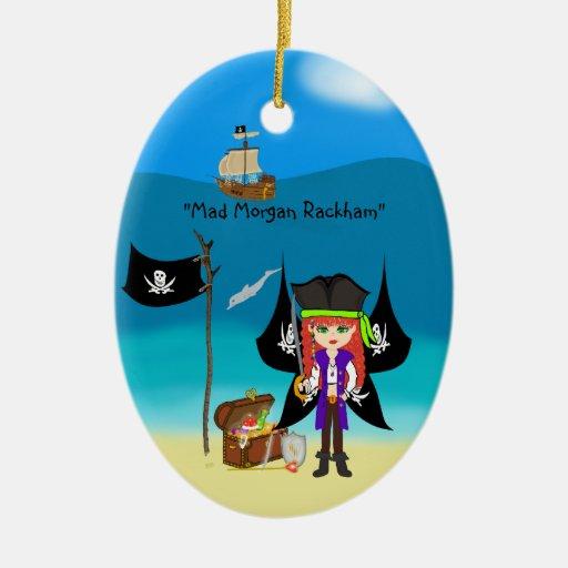 Ornamento del navidad del Faery del pirata Ornamento Para Arbol De Navidad