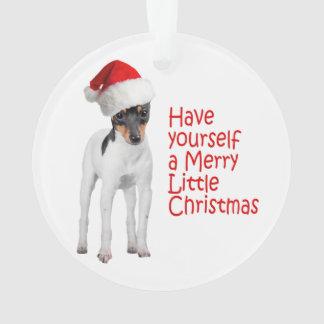 Ornamento del navidad del fox terrier del juguete