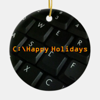 Ornamento del navidad del friki del Negro-Teclado Ornaments Para Arbol De Navidad