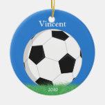 Ornamento del navidad del fútbol adorno de reyes