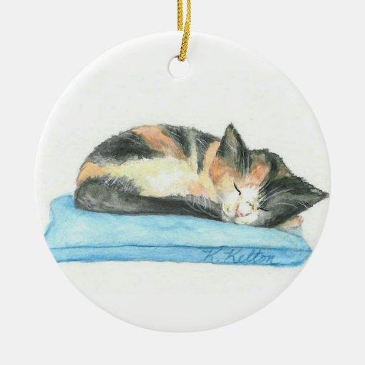 Ornamento del navidad del gatito del calicó el dor ornamento de reyes magos