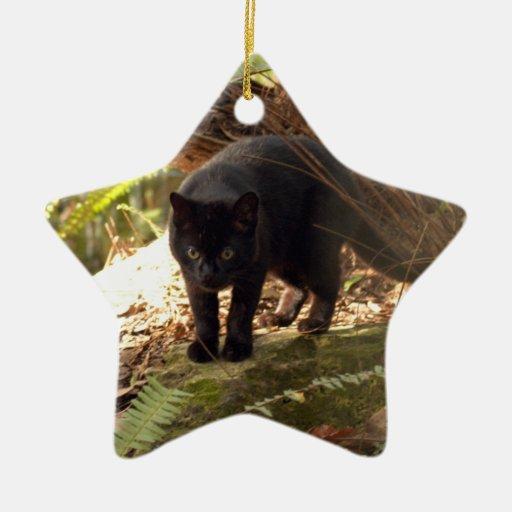 Ornamento del navidad del gato de Geoffroy Ornamento Para Arbol De Navidad