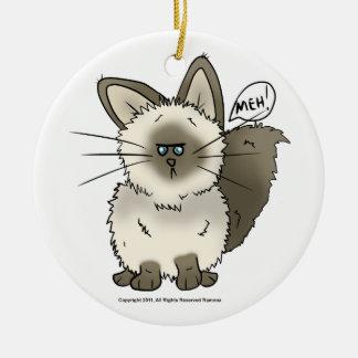 Ornamento del navidad del gato de Meh Ornamentos Para Reyes Magos