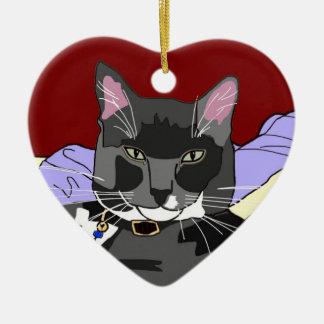 Ornamento del navidad del gato de Smokey Ornamento De Reyes Magos